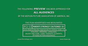 PG-13 Movie Screen