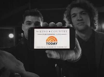 For KING & COUNTRY to Perform on The Today Show