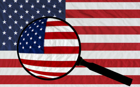 Flag Magnifying Glass
