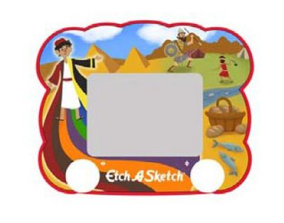 Joseph, David & Goliath Etch A Sketch Jr. Image courtesy of Send The Light Distribution.