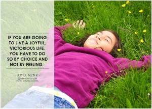 Choose faith over feeling